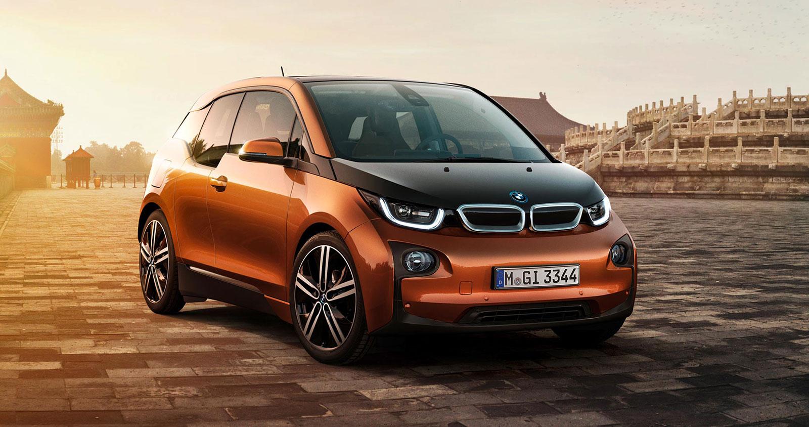 BMW i3 orange